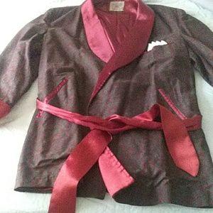 VINTAGE Macy's smoking jacket $88+Free $5 gift